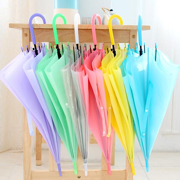 비닐우산/투명비닐우산/일회용우산/파스텔칼라 상품이미지