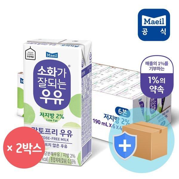 매일 소화가 잘되는 저지방 우유 190ml 48팩 상품이미지