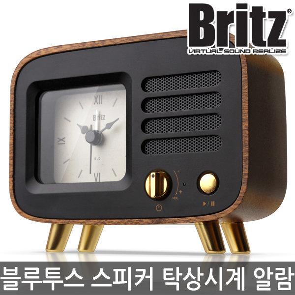 무소음 탁상시계 알람 블루투스 스피커 BA-MK7 (블랙) 상품이미지