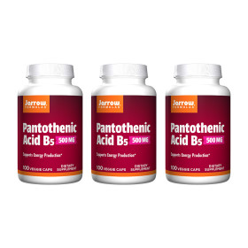 3개 포뮬러스 판토텐산 비타민 B5 500 mg 100 베지 캡슐 Jarrow 빠른직구