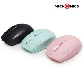 MANIC E1S 무소음 무선마우스 핑크