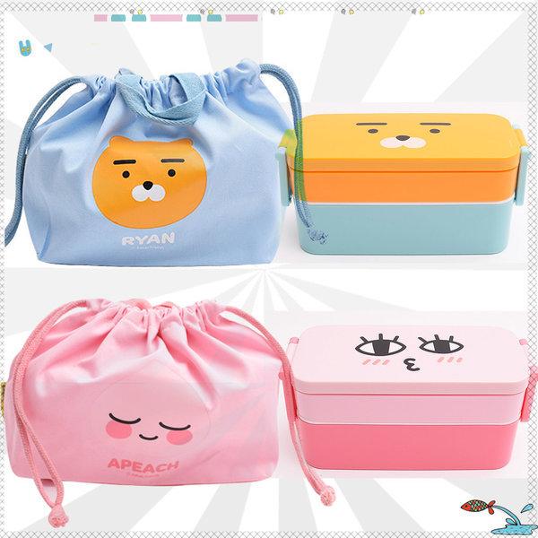 예쁜 도시락통 도시락 주머니 가방 젓가락 소풍 아동 상품이미지