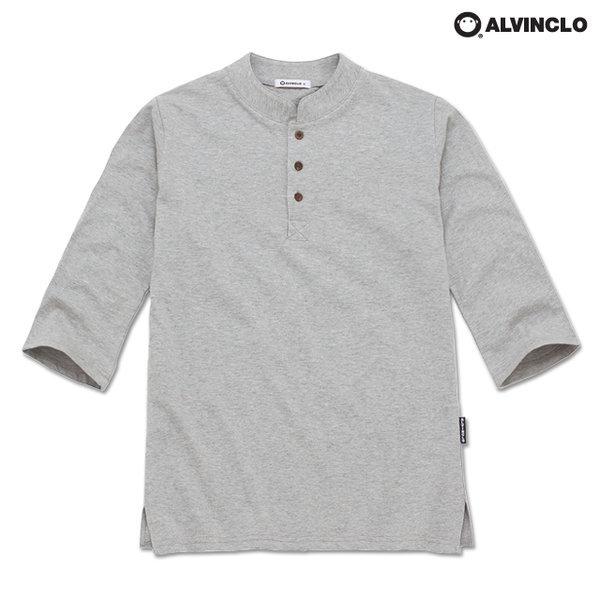 20수 슬럽 3버튼 무지 헨리넥 7부 티셔츠 AST3236 상품이미지