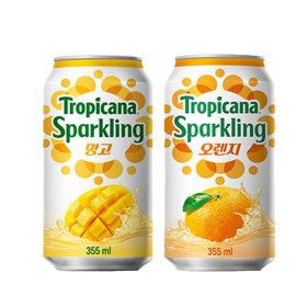 트로피카나 스파클링 망고 6캔+오렌지 6캔
