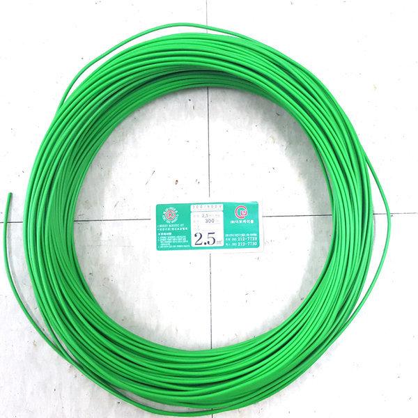 비닐절연전선(녹색) 300m롤  HIV전선 2.5 (1.78mm) 상품이미지