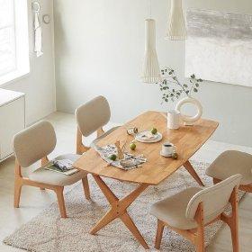 포레 릴렉스 4인 식탁세트(의자4포함)_DIY