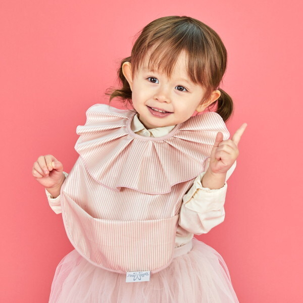 벨몽 러블리 러플 방수턱받이-세인트 핑크 상품이미지