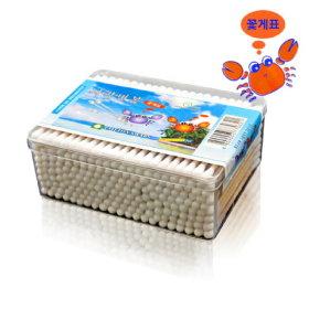 SM 꽃게표 사각면봉 200P / 위생 일회용 나무면봉