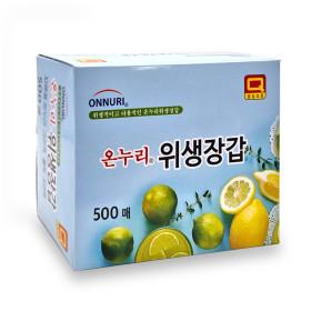 SM 온누리 위생장갑 500매 / 일회용 비닐장갑