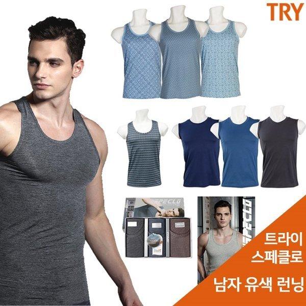 트라이  남성런닝 런닝셔츠 남자 민소매 세트 3매 (2184558) 상품이미지