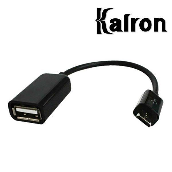 칼론 스마트폰 마이크로5핀 USB OTG 케이블 젠더 블랙 상품이미지