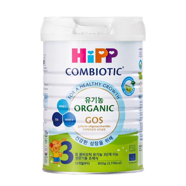 힙분유 무전분 HiPP 유기농 콤비오틱 3단계 800g X 1캔 상품이미지