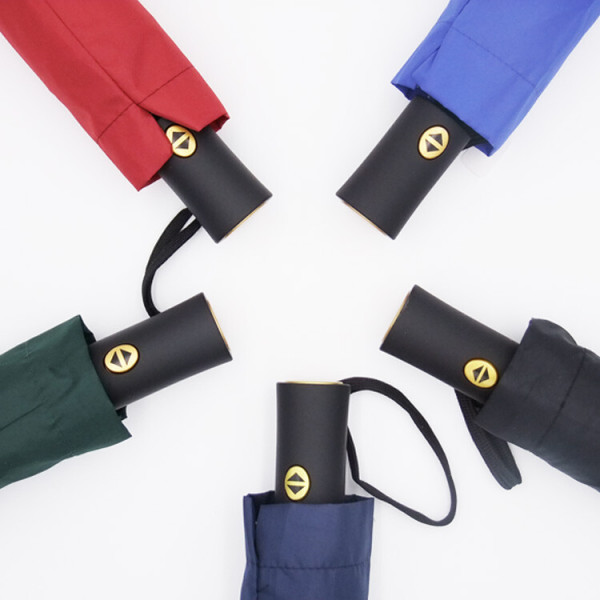 심플 무지 완전자동우산 접이식우산 3단우산 장마 비 상품이미지