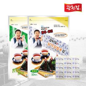 달인 김병만의 삼각김밥김 50매(조미)+50매(무조미)