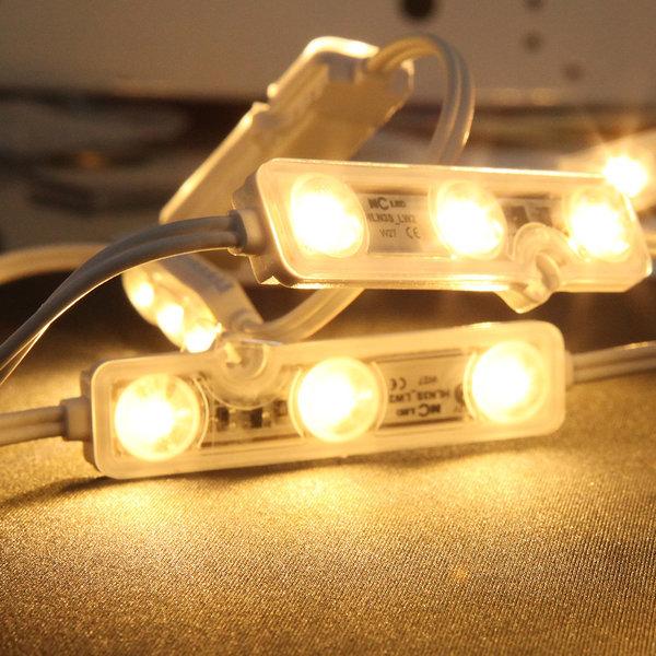 간판 조명 /12V  LED 3구모듈   6.6cm 웜화이트 상품이미지