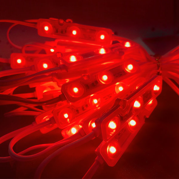 간판 테두리 조명 /12V  LED 3구모듈   6.6cm 빨강 상품이미지