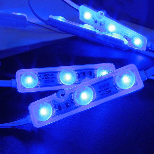 간판 테두리 조명 /12V  LED 3구모듈   6.6cm 파랑 상품이미지