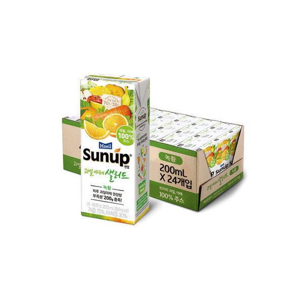 썬업 과일야채샐러드 녹황 200ML  24팩 상품이미지