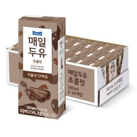 매일두유 초콜릿 190ml 24팩+황민현 포토카드 1개