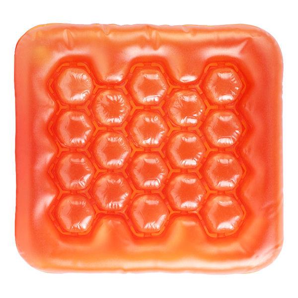 에어방석 에어물방석 사각 오렌지 아이스방석 쿨방석 상품이미지