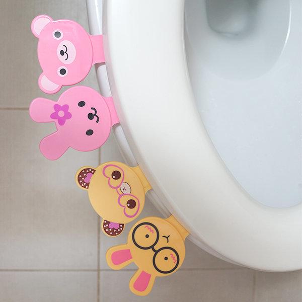 캐릭터 변기 손잡이 화장실/위생/향균개폐/좌변기 상품이미지