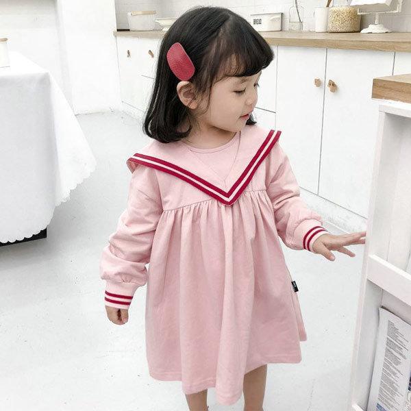 세일러카라원피스 아동복 아기 원피스 여아 옷 북유럽 상품이미지