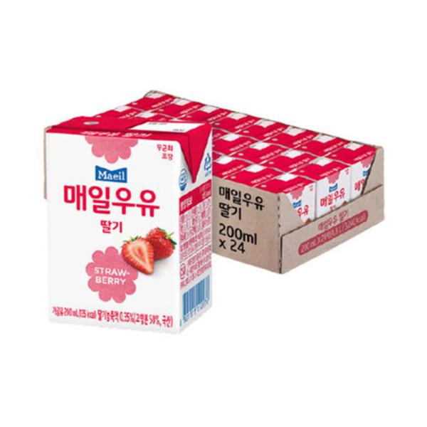 매일우유 딸기 멸균 200ml 24팩 상품이미지