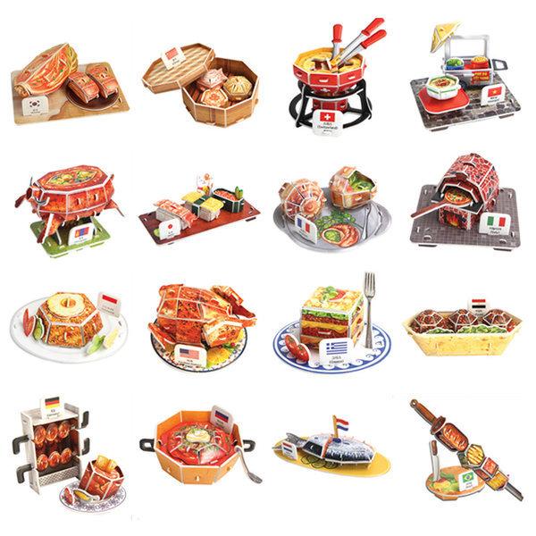 뜯어만드는세상 세계의 전통음식/입체퍼즐 3D퍼즐모형 상품이미지