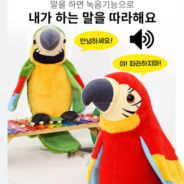 말하는 앵무새 인형 말 따라하는 앵무새 장난감 토이 상품이미지