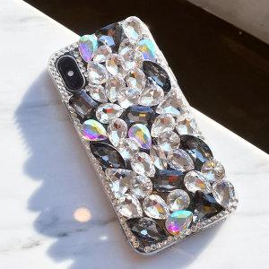 아이폰XS 8 7 갤럭시S10 5G S9 노트9 보석 큐빅케이스