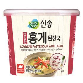 신송 홍게된장국 10G(컵) 12개