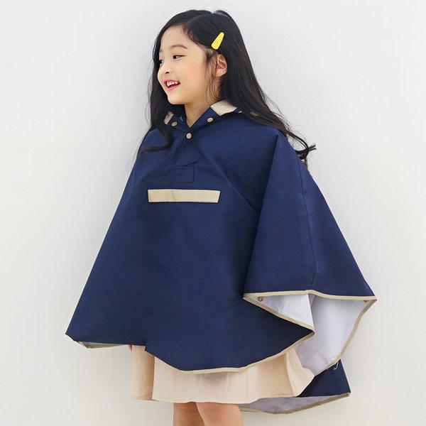 키즈 아동 유아 심플라인 판초 레인코트 비옷 우의 상품이미지