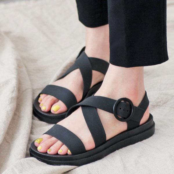 글리터1788 여름 여성 스트랩 샌들 발 편한 샌달 신발 상품이미지