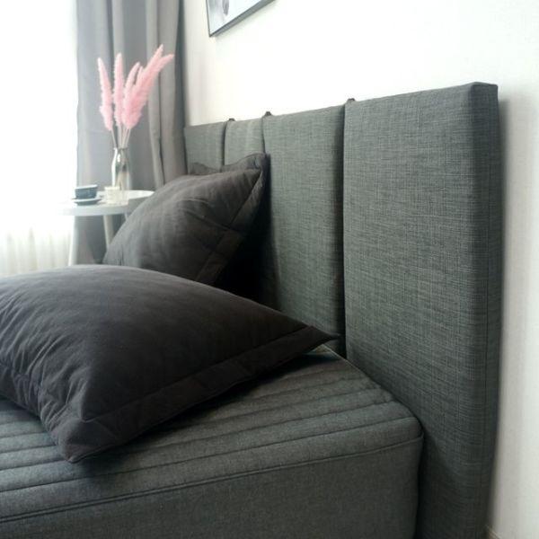 슬림 침대 헤드보드 6color - (슈퍼)싱글+솜 상품이미지