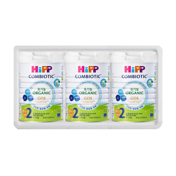 힙분유 무전분 HiPP 유기농 콤비오틱 2단계 800g X 3캔 상품이미지
