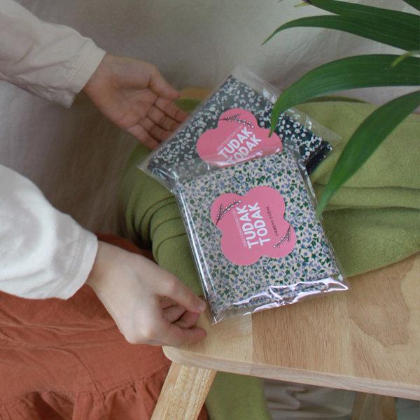 아동스카프 친구선물 꽃무늬스카프 아이보리 목보호 상품이미지