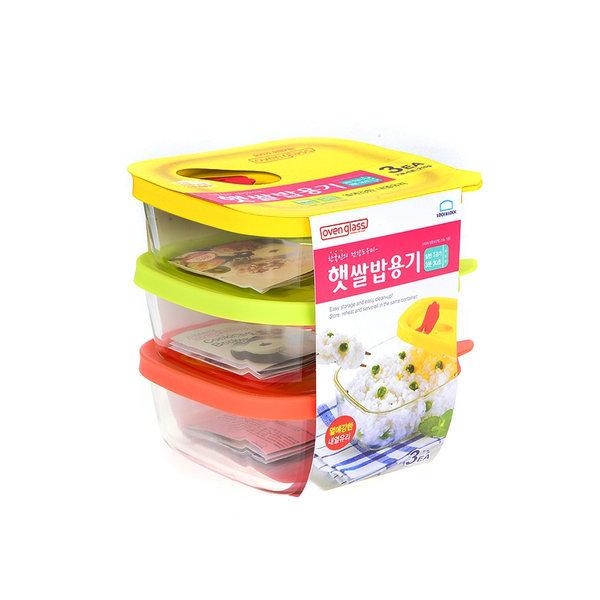 (무배)락앤락 햇쌀밥용기 320ml 3개 세트 상품이미지
