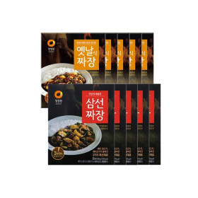 청정원 옛날짜장 180gX5개+삼선짜장180gX5개(총10개)