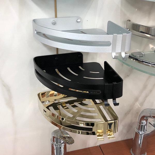 욕실선반 코너선반 강화유리코너선반 블랙코너선반 상품이미지