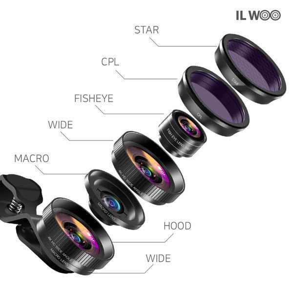 4K HD 스마트폰광각 셀카렌즈 접사 CPL 어안렌즈 상품이미지
