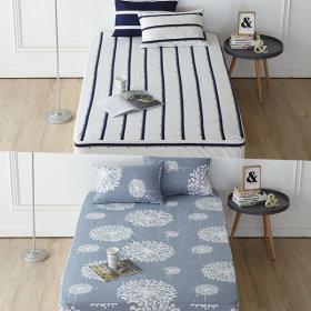 국산 순면 디자인 침대커버 더블D