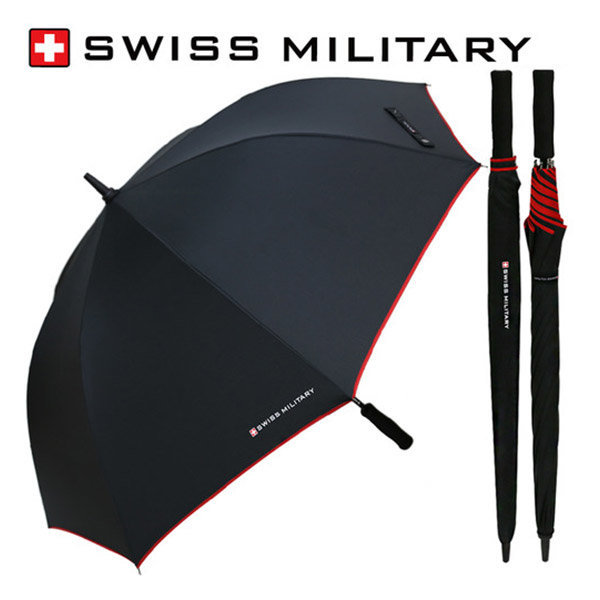 70 수동 레드바이어스 우산 장우산 고급 브랜드 판촉 상품이미지