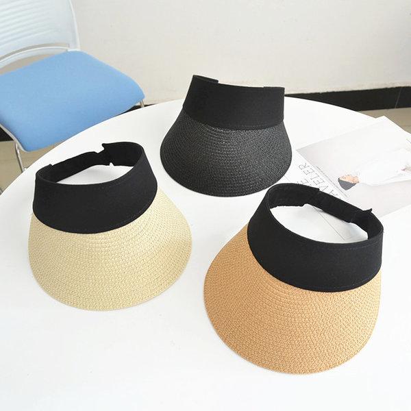 여름 왕골 밀짚모자 썬캡 자외선차단 통풍 레이밴딩 상품이미지