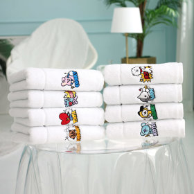Genuine product BT21 facial towel hotel towel comic pop badge towel