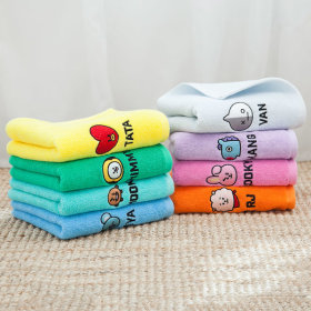 Official product BT21 face towel hotel towel facial name towel