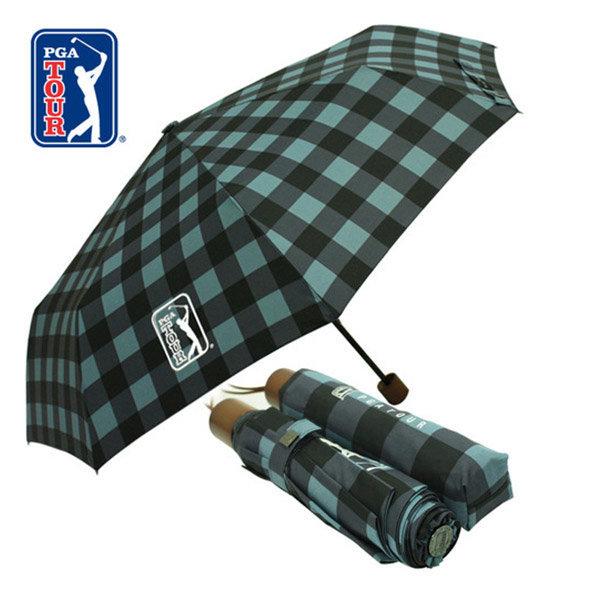 3단 수동 체스 블루 우산 고급 브랜드 선물 판촉 포장 상품이미지