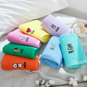 Official Product BT21 7DAY facial towel hotel towel set 7 sheets