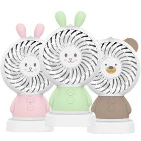 모찌모찌 LED 캐릭터 휴대용 미니 손 선풍기 2+1 랜덤