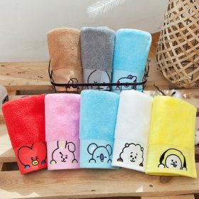 Official product BT21 face towel hotel towel pose peep towel