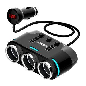[카테크]차량용 멀티 시거잭 소켓 고속 급속 충전기 USB CT-409